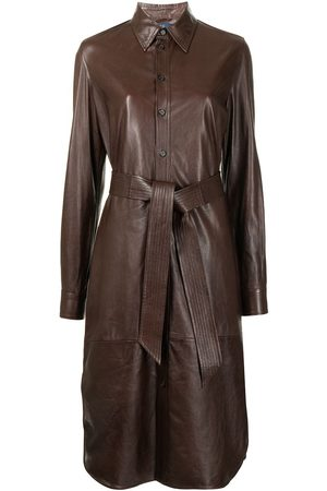 Polo Ralph Lauren Belted leather shirtdress