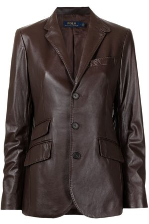 Polo Ralph Lauren Single-breasted leather blazer
