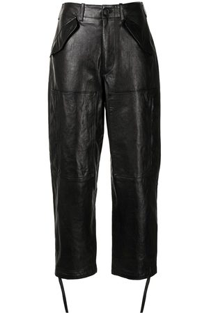 Polo Ralph Lauren Cropped leather trousers