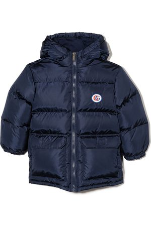 Gucci Double G quilted puffer jacket