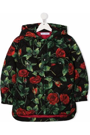 Dolce & Gabbana All-over floral print hooded coat