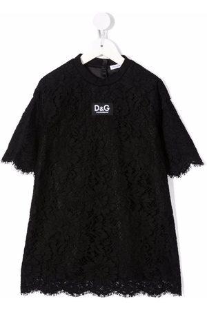 Dolce & Gabbana Logo-patch lace dress