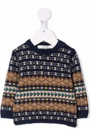 BONPOINT Intarsia-knit buttoned jumper