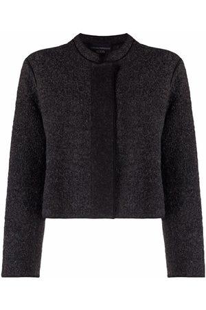 Emporio Armani Textured charcoal jacket