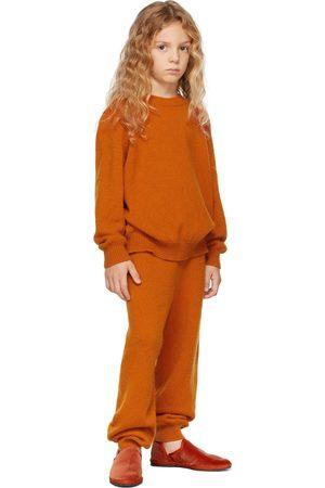 The Row Broeken - Kids Orange Cashmere Louie Lounge Pants