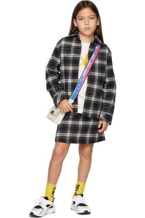 OFF-WHITE Meisjes Rokken - Kids Black Flannel Check Mini Skirt