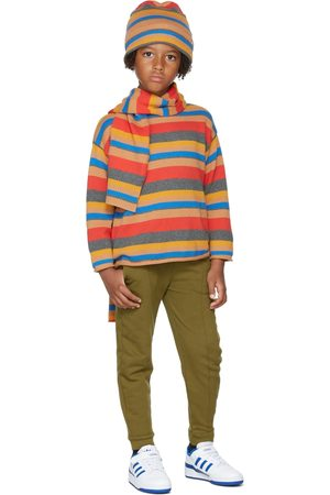 Repose AMS Sweaters - Kids Stripe Boxy Sweater