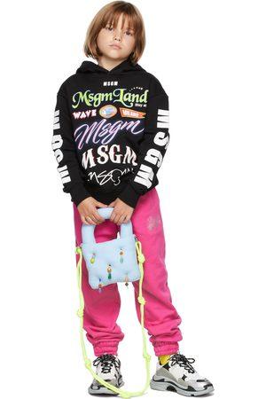 Msgm Hoodies - Kids Black Multilogo Hoodie
