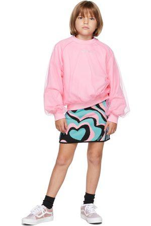 Msgm Kids Pink Tulle Sweatshirt