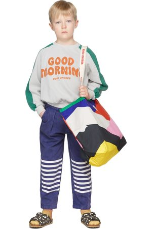 Bobo Choses Chino's - Kids Blue Stripes Chino Trousers
