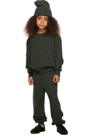 The Row Broeken - Kids Green Cashmere Louie Lounge Pants