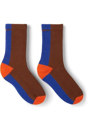 Repose AMS Sokken - Kids Brown & Blue Sporty Socks