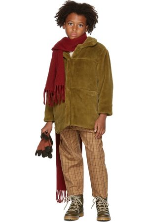 Repose AMS Bontjassen - Kids Khaki Faux-Fur Coat