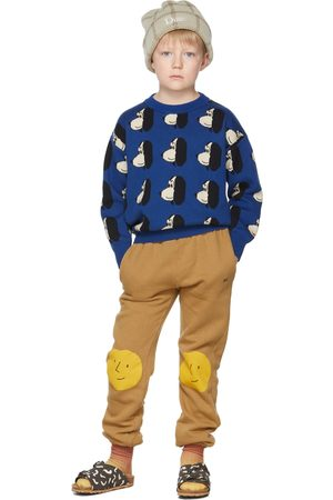 Bobo Choses Sweaters - Kids Blue Doggie All Over Sweater