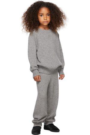 The Row Broeken - Kids Grey Cashmere Louie Lounge Pants