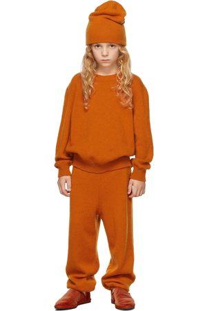 The Row Sweaters - Kids Orange Cashmere Dewey Sweater