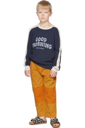 Bobo Choses Sweaters - Kids Navy & Off-White Good Morning Sweater