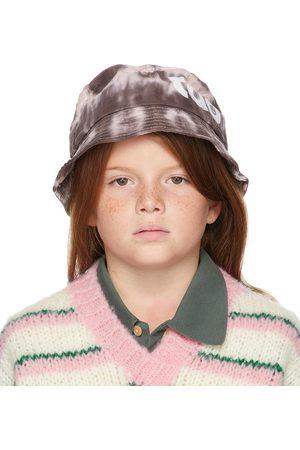 The Animal Observatory Hoeden - Kids Brown & Pink Tie-Dye Starfish Bucket Hat
