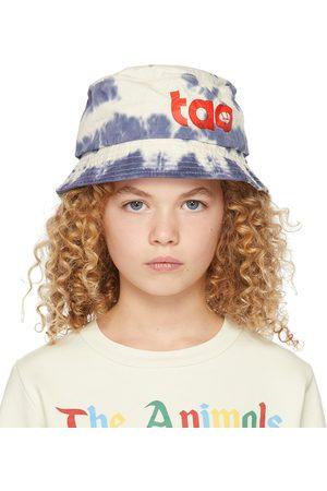 The Animal Observatory Hoeden - Kids Blue & White Tie-Dye Starfish Bucket Hat