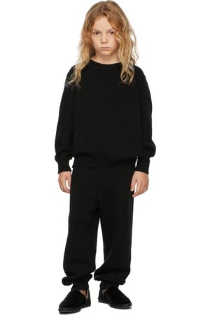 The Row Sweaters - Kids Black Cashmere Dewey Sweater