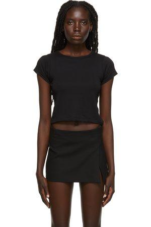 ÉTERNE Baby T-shirts - SSENSE Exclusive Black Crop Baby T-Shirt