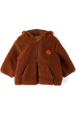 Bobo Choses Donsjassen - Baby Brown Face Embroidery Hooded Jacket