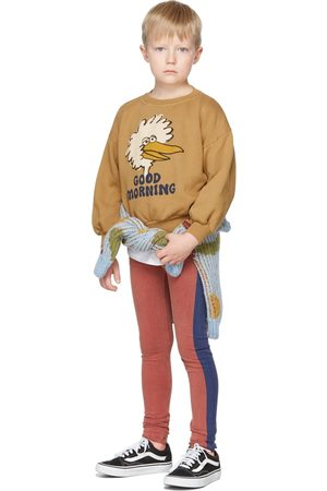Bobo Choses Sweaters - Kids Tan Birdie Sweatshirt