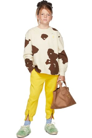 The Animal Observatory Broeken - Kids Yellow Panther Lounge Pants