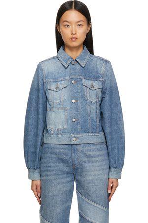 Ganni Blue Cutline Denim Jacket