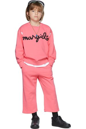 MM6 MAISON MARGIELA Sweaters - Kids Pink 'Margiela' Sweatshirt
