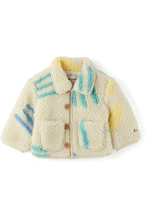 Bobo Choses Donsjassen - Baby Off-White Scratch All Over Jacket