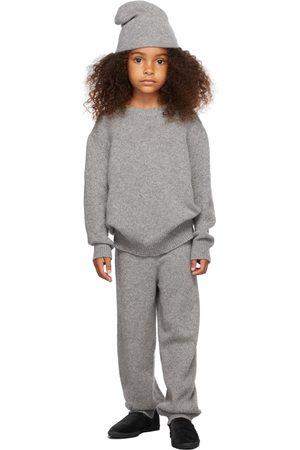 The Row Sweaters - Kids Grey Cashmere Dewey Sweater