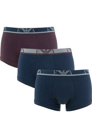 Emporio Armani Boxershorts stretch eagle trunk 3-pack blauw && rood