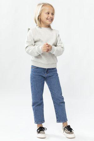 Sissy-Boy Meisjes Sweaters - Grijze sweater met schouderdetail girls