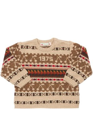BONPOINT Jacquard Wool Blend Knit Sweater