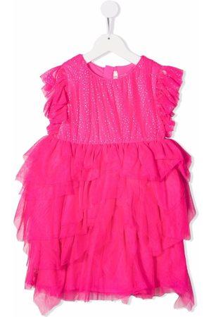 Billieblush Glittered ruffled dress