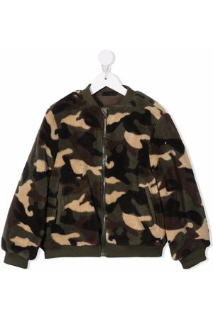 YPORQUÉ Camouflage-print fleece jacket
