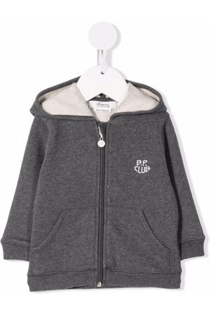 BONPOINT Embroidered-logo zip-up hoodie
