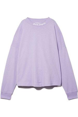 Palm Angels Logo print crew neck sweatshirt