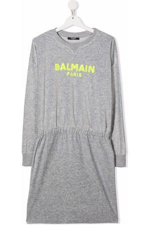 Balmain TEEN sequined sweater dress