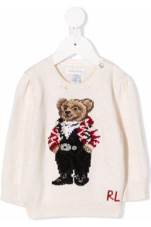 Ralph Lauren Polo Bear intarsia-knit jumper