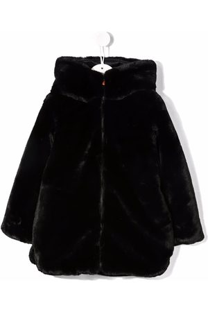 save the duck Hooded zip-up faux-fur coat