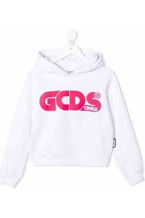 GCDS Color-block logo-print hoodie
