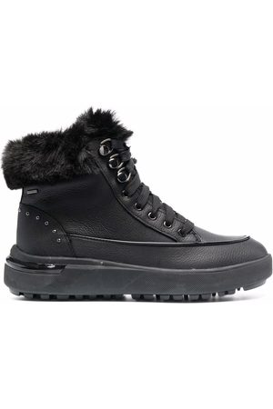Geox Fur trim ankle boots