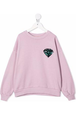 Le pandorine Sequin-embroidered organic cotton sweatshirt