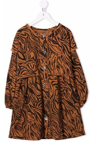 Le pandorine Tiger-print midi dress