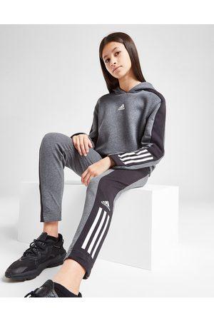 adidas Meisjes Sportleggings - Girls' Badge of Sport Hoodie/Leggings Set Junior - Only at JD