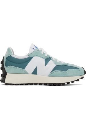 New Balance Blue & White 327 Sneakers