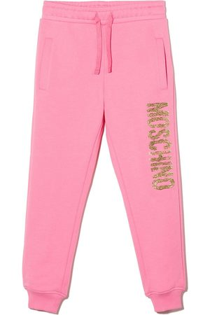 Moschino Textured logo jogging trousers