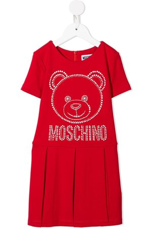 Moschino Teddy bear-motif studded dress